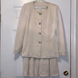 Dresses & Skirts - Cream Two-Piece Skirt Suit